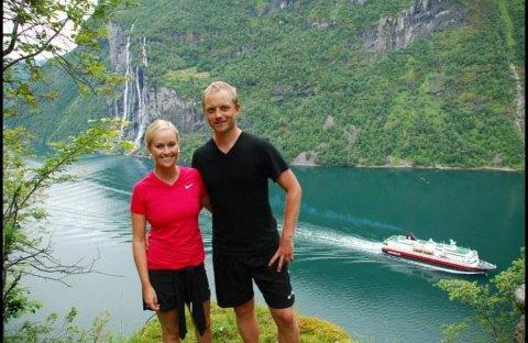 Cathrine og samboeren pleide å reise i alle ferier. Her var de i Geiranger.