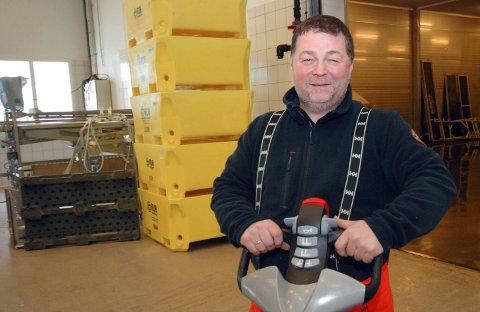POPULÆR: Kaiformann Geir Kristian Leinan på Finnmark Fisk velger å se litt humoristisk på den enorme interessen fra fiskere som vil sikre seg parten av «Mehamn-kvota.»