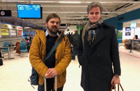 STÅR FAST I ALTA: Øystein Ruud og økonomi- og analysesjef Ole Stian Søyseth skulle til Vadsø fra flyplassen.