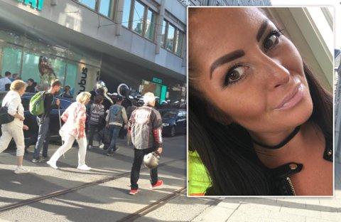 MÅ HANDLE KLÆR: I det iFinnmark snakker med Charlotte, er hun på vei mot Oslo sentrum for å handle seg klær.