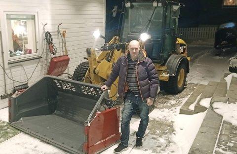I GANG: Torgrim har allerede fått en del faste kunder i Vadsø.