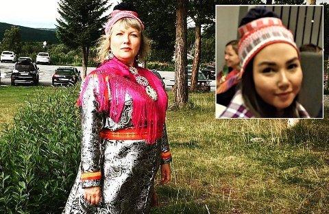 #SINTSAMEMOR: Lisa Pedersen har sett seg lei på samehets, etter at datteren Ann-Mari (innfelt) nok en gang fikk oppleve det på bybussen i Tromsø.