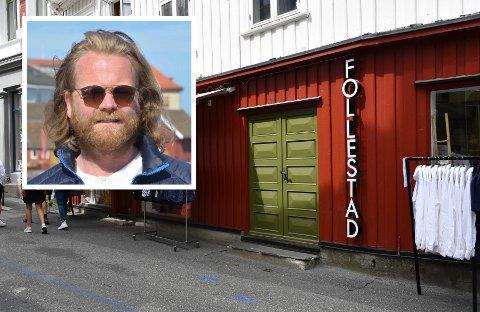PUSSET OPP: Allerede den første dagen i Christian Hestenes sitt eierskap ble fasaden pusset opp. Foto: Sarah Dürlinger / Innfelt foto: Per Eckholdt