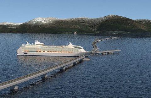 Slik kan ei bru over Husnesfjorden bli sjåande ut. (Illustrasjonsbilde frå arkivet).