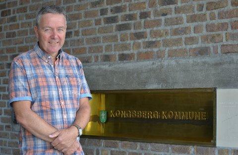 Vil høre folks mening:  Nils Martin Løwehr i Kongsberg kommune, håper mange av kommunens innbyggere kommer på tirsdagens folkemøte.