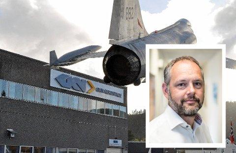 PERMITTERER: Peter Hjortsberg er administrerende direktør i GKN Aerospace Norway AS.