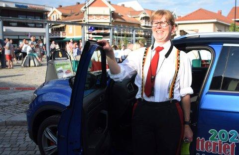 Ane Myren vant både hovedpremien, en VW T-roc, og et reisegavekort på 10.000 kroner i Kanonlotteriet.