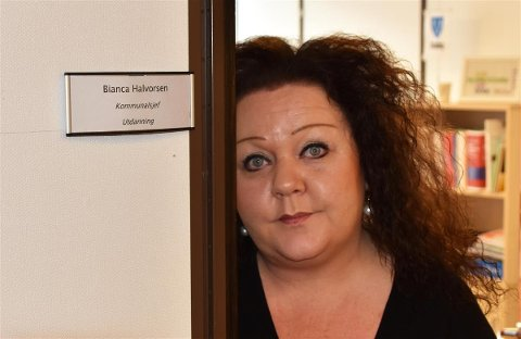 Kommunalsjef for utdanning i Vestvågøy, Bianca Halvorsen.