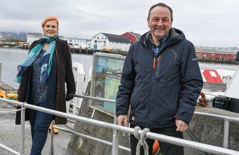Maner til kamp: Varaordførere Lena Hamnes (Ap) og ordfører Frank Johnsen (Sp) mener det er viktig at Nordland  kunst- og filmhøyskole i Kabelvåg bevares.