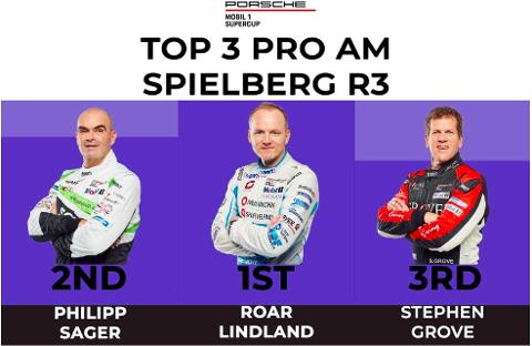RED BULL RING: Roar Lindland etter fjorårets seier på red Bull Ring i Østerrike.