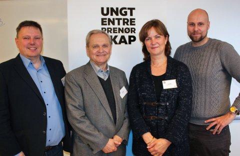 JURY: Juryen for «Beste innovative produkt». Fra venstre: Gjermund Karlsen, Ivar Listerud, Anne Wold og Glenn Lund.