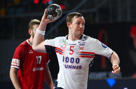 Sander Sagosen i aksjon for Norge i VM.