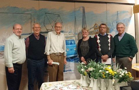 """Noen av medlemmene i """"Et bedre Oppsal"""". Fra venstre mot høyre: Reidar Lie, Knut Elgsaas, Tom Rellsve, Åshild Bue, Fred-Olav Løvstad, Eilif Nygaard"""