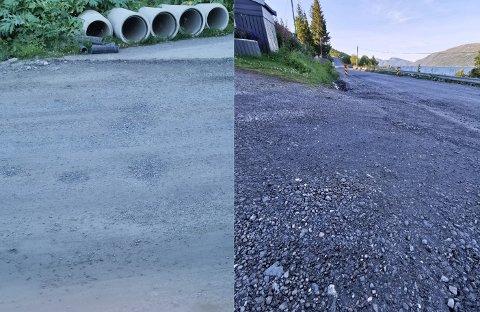 NEDSTØVET: Langs Fjordvegen 504 fortviler beboerne over støv fra veien. I snart to måneder har de forsøkt å få svar fra de ansvarlige.