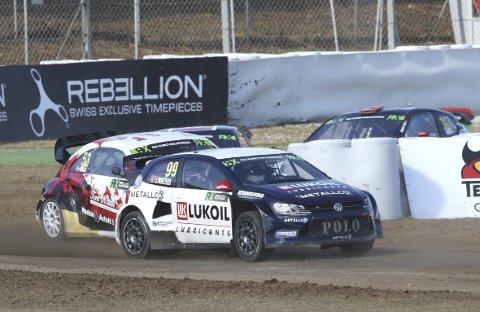 Tredjeplass: Tord Linnerud kjørte inn til tredjeplass i helgas EM-runde i rallycross i Barcelona. Foto: Johnny Loix