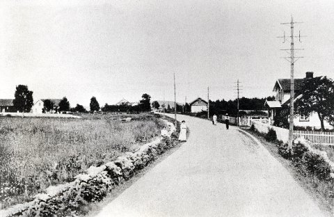 EUROPAVEI 18.  E18's forgjengere tidlig på 1900-tallet _ forbi Ringdal.