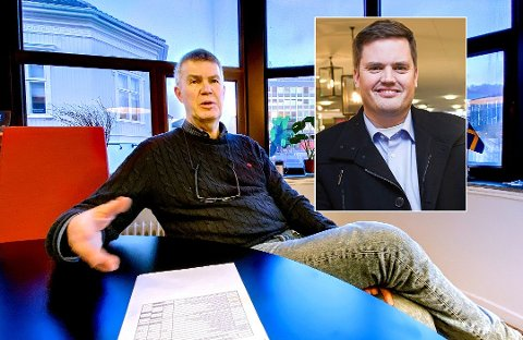 SA JA – TIL SLUTT: Ordfører Erik Bringedal fikk ikke tommel opp fra partifelle Thomas Løvald (innfelt) umiddelbart. Men nå er de altså enige.