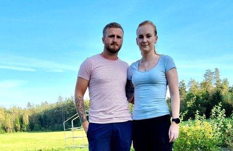 FØRSTEGANGSKJØPERE: Chris-Sander Snørteland og Kamilla Frydenlund er på jakt etter sin første bolig. De synes det er vanskelig å komme inn på boligmarkedet.