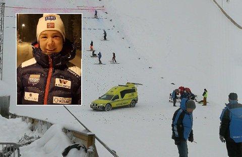 Lørdagens kombinertrenn ble avlyst etter at Mari Leinan Lund falt stygt i Renabakken. Selv husker ikke 18-åringen noe av det som skjedde.