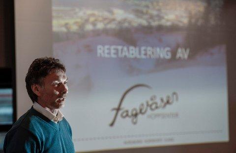 VIKTIGE MILEPÆL: Trond Jøran Pedersen gleder seg over kommunal støtte til hopprosjektet. Neste steg er et møte med Nordland fylkeskommune.