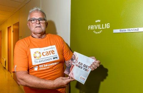 Igjen viser daglig leder i Rana Frivilligsentral, Stein E. Hovind, at han bryr seg om TV-aksjonen, som i år er tildelt Care. I aksjonskomiteen sitter dessuten Eivind Nicolaysen, Anne Sofie Urke og Trond Møllersen.