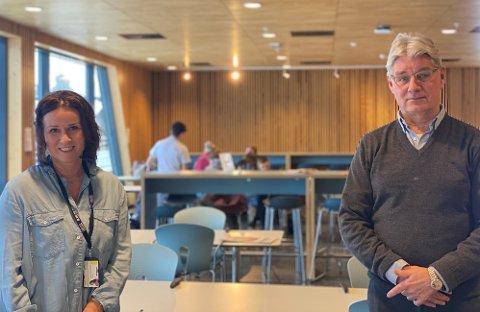 FØLER SEG SETT: Både rådgiver Laila Jensbak Nysæter og rektor Kjell Åge Bjørsrud ved Ringsaker videregående skole mener skolen er en viktig arena for at ungdommene skal føle seg sett i hverdagen.