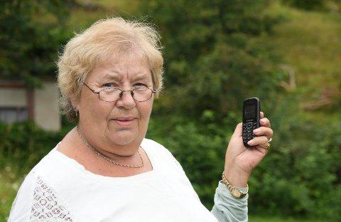 Oppgitt: Wenche Brukstuen fra Åsmarka ble i forrige uke utsatt for to forsøk på SMS-svindel.