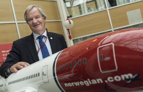 Bjørn Kjos ved hovedkontoret på Fornebu.