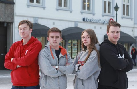 Ole Gunnar Hoem (SU), Jens Kristian Fauske (UH), Viktoria Saxegaard (AUF) og Morten Guttormsen Solbakken (Fpu), er alle ledere for sitt ungdomsparti.