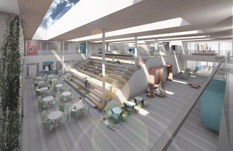 Moderne: Elevene som skal gå på den nye skolen i Hønefoss Sør kan se frem til en skolehverdag i flotte lokaler.