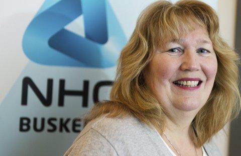 Jobb:  – Ringeriksbanen og ny E16 skaper optimisme og investeringsvilje, sier Grete Karin Berg i NHO.          Foto: Tore Sandberg, Drammens Tidende