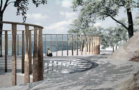 MINNESMERKET: Nå skal forslaget om 22. juli-minnesmerket på Utøyakaia sendes på høring, til tross for store protester fra naboer.