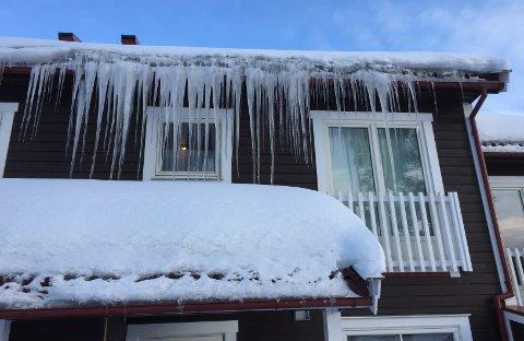 PROBLEMHUS: Slik så det ut ved en av boligene onsdag morgen.
