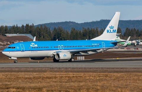 KLM-flyet er avbildet på Gardermoen og har ingenting med den aktuelle avgangen å gjøre.