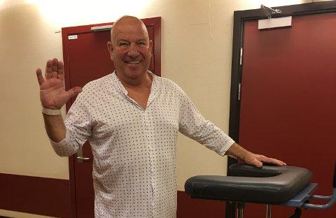 ROSER  SYSTEMET: Øystein Kløvstad måtte fjerne en svulst nå midt i korona-krisen, han har kun positive ting å si om all hjelpen han har fått på sykehuset.