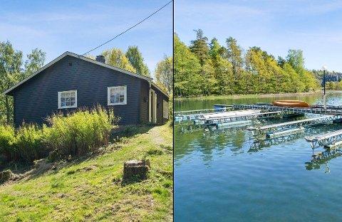 DJUPSUND: Denne hytta innerst i Mefjorden er solgt for 1,660 millioner kroner.