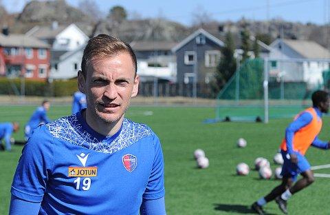 NY: Amer Ordagic kom fra Brann før denne sesongen og håper på et godt opphold i Sandefjord fotball.
