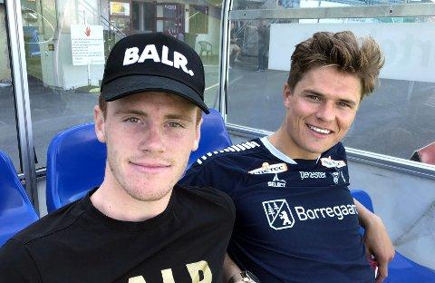 Tobias Heintz og Bjørn Inge Utvik har hatt et tøft kampprogram denne høsten. Tøffere skal det bli med U21-landslagsspill for Sarpsborg 08-spillerne.