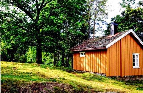 DAGENS HYTTE: Dette er den godt over 100 år gamle hytta på 25 kvadratmeter som hytteieren ønsker å rive, for så å bygge en nypå 71 kvadratmeter på den samme tomta - innenfor 100-metersbeltet mot Rødenessjøen. FOTO: Fra saksdokumentene