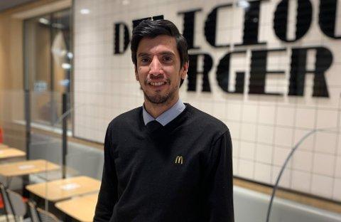 UNNGÅTT KORONA: Daglig leder på McDonalds Carlos Cardoso.