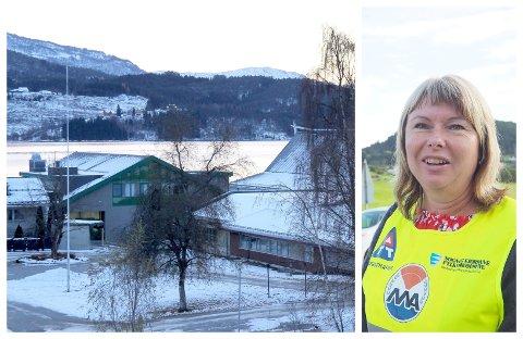 PRAKSISSKULE: Rektor Hilde Holte Selland ved Hafslo barne- og ungdomsskule seier dei er klare til å ta imot dei 49 lærarstudentane som skal ha praksis med skuleovertaking. Smittevern står i fokus.