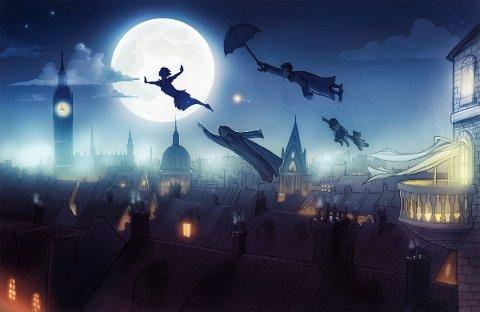 Teaterlærer på Sola kulturskole, Hans Rosenquist, og hans elever, dramatiserer Peter Pan for evig.