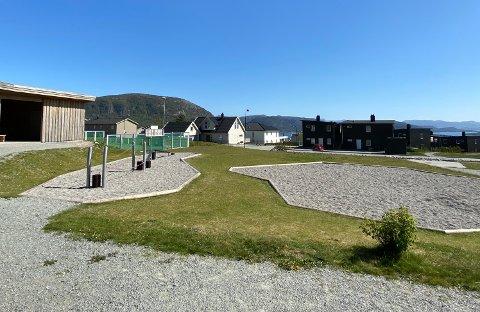 NÆRMILJØANLEGG: I boligområdet Resahagen på Jørpeland har Strand kommune fått 289.000 kr til å føre opp en klatreinstallasjon. Foto: Gina Yu Henriksen