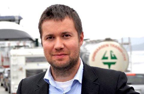 SPØR: Stortingsrepresentant Geir Pollestad frå Senterpartiet spør samferdselsministeren om dekninga av manglande inntekter som fylgje av den forseinka bompengeinnkrevinga i Ryfast. Arkivfoto