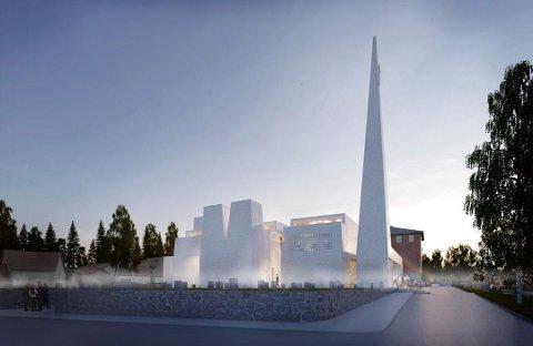REIS OPP: Dette er den nye kirken som skal bygges.