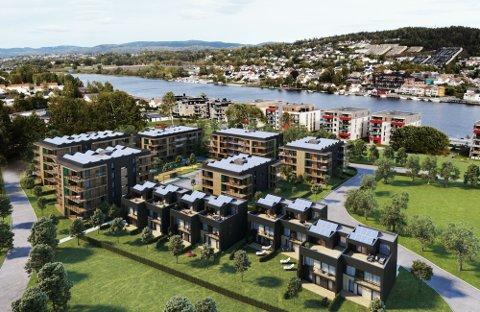 UTSETTER BYGGESTART: Utbyggerne utsetter byggestart for det første leilighetsbygget i Kvartalet Vessia.