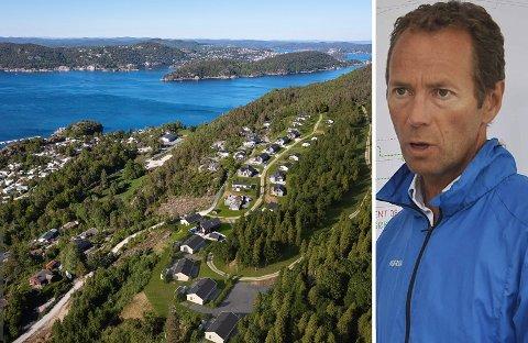 NY INVESTERING: Slik blir første del i utbyggingen av Ivar Tollefsens Kragerøfjorden hyttegrend på Ørvik. Neste trinn blir lenger opp i Ørviklia. Nærmere sjøen til venstre ligger campingen, som er del av samme eiendom som hyttefeltet.