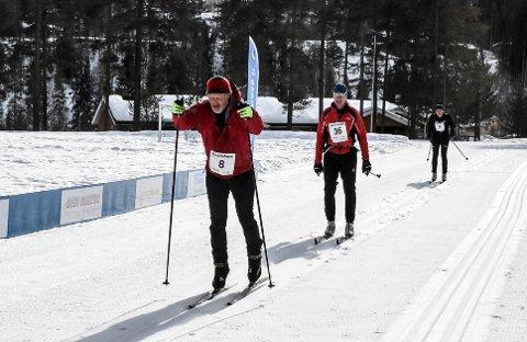 MÅL: Stein Olav Kivle (8), Hans Arve Flåterud (36), Vidar Kongsli (9) nærmer seg målstreken i det 69. gaustaløpet