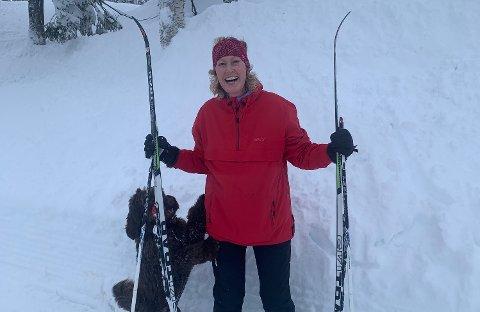 Kristin Saga storkoste seg på hytta i Tuddal i påska, helt til hun skulle kjøre ned den siste bakken til hytta.