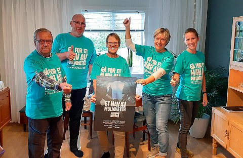 HALSA: I Halsa er det frivilligsentralen som organiserer årets TV-aksjon: Ivar Betten (til venstre), Svein Atle Grødal, Solvår Skogen Sæterbø, Tove Karin Halse Lervik og Oddny Guldstein-Aarset Løwe.